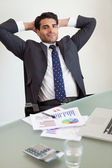 Portrait of a satisfied sales person — Stok fotoğraf