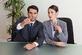 Business negotiating — Stock Photo