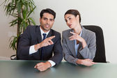 Good looking business negotiating — Stock Photo