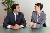 Serious business negotiating — Stock Photo