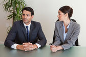Focused business negotiating — Stock Photo