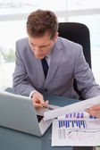 Businessman looking at his laptop — Stock Photo