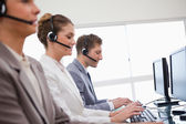 Side view of customer advisory service — Stock Photo