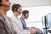 Side view of customer service department — Stock Photo