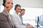 Side view of customer service team — Stock Photo
