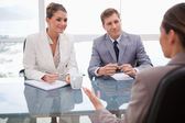 Business in negotiation — Stock Photo