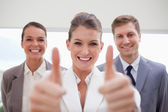 Personnel recruitment team giving approval — Stock Photo