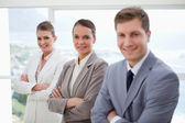 Department manager with his team — Stock Photo