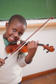 Portrait of a boy playing the violin — Stock Photo