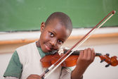 Schoolboy playing the violin — Stock Photo