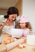Mother and daughter preparing cookies — Stock Photo