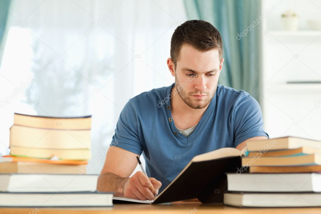 Male student preparing for exam — Stock Photo #11201823