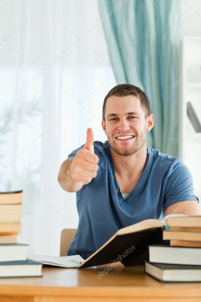 Male student found the right solution — Stock Photo #11201851