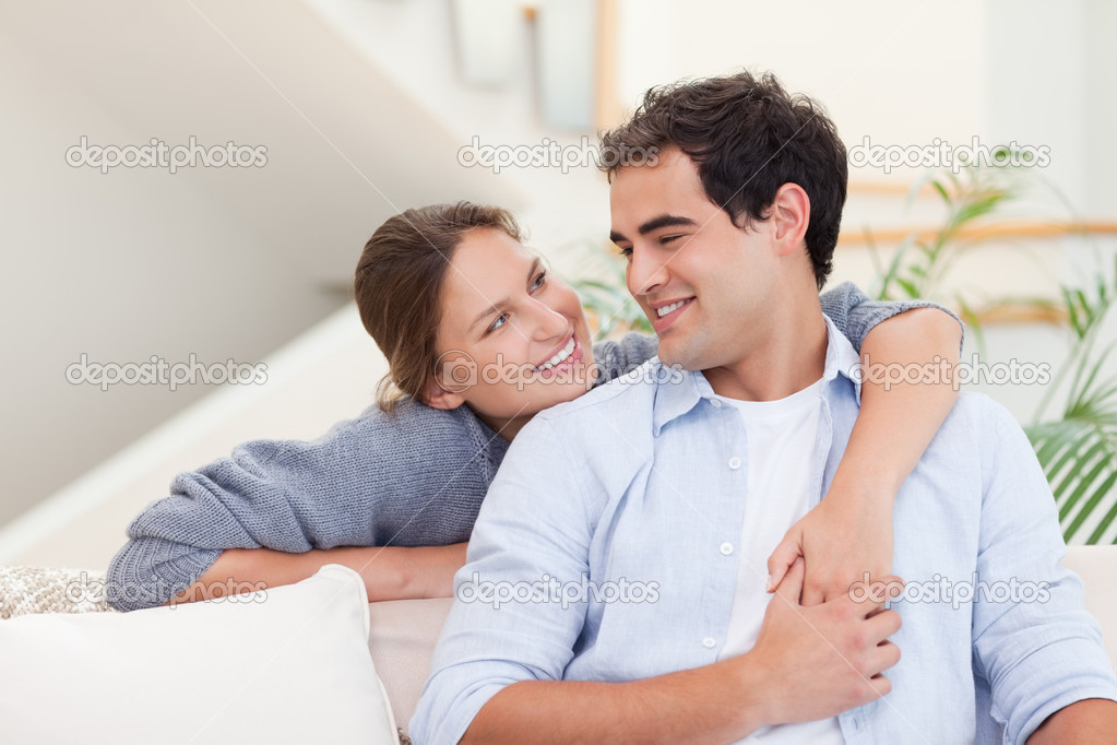 Smiling couple hugging   Stock Photo  11204237. Smiling couple hugging   Stock Photo   Wavebreakmedia  11204237