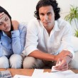 Stock Photo: Couple experiencing financial problems