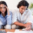 Stock Photo: Couple just found out they are broke