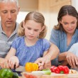 Stock Photo: Family cooking together