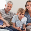 Royalty-Free Stock Photo: Family playing video games