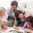 Beautiful family drawing together — Stock Photo #11210784