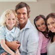 Lovely family posing — Stock Photo
