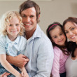 Lovely family posing together — Stock Photo