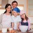 Stock Photo: Family baking together