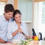 coppia felice di cucina — Foto Stock