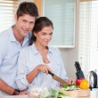 Foto de Stock  : Married couple cooking