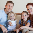 Stockfoto: Family watching television