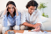 Couple just found out they are broke — Stock Photo