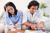 Couple having a hard time doing their finances — Stock Photo