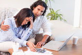 Couple worried about their finances — Stock Photo