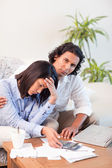 Couple underestimated their expenses — Stock Photo
