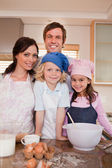 Portrait of a family baking together — Stock Photo