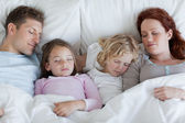 Family taking a rest together — Stock Photo