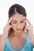Portrait of a young woman having a headache — Stock Photo