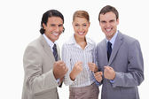 Successful businessteam standing — Stock Photo