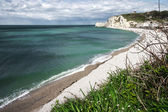 Etretat on the Upper Normandy coast in the North of France — Stock Photo