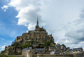 Mont Saint Michel Abbey, Normandy / Brittany, France — Stockfoto