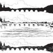 Charles Bridge, Prague — Vektorgrafik