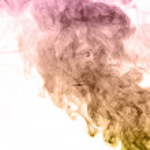 Colorful smoke on white background — Stock Photo