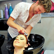 Stock Photo: Woman in a beauty salon