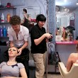 Stock Photo: Young womans in a beauty salon