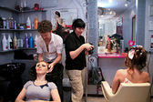 Young womans in a beauty salon — Stock Photo