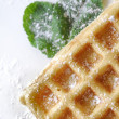 Wafer with sugar powder — Stock Photo