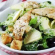 Caesar salad with chicken and lettuce — Stock Photo #10858365