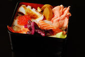 Box of japanese traditional food — Stock Photo