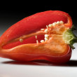 Halved pepper — Stock Photo