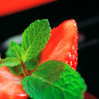 Halved strawberry — Stock Photo #11964754