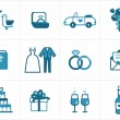 Royalty-Free Stock Vectorielle: Wedding icons